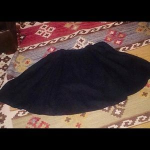 skaters circle skirt, Linen black ,stretch waist M